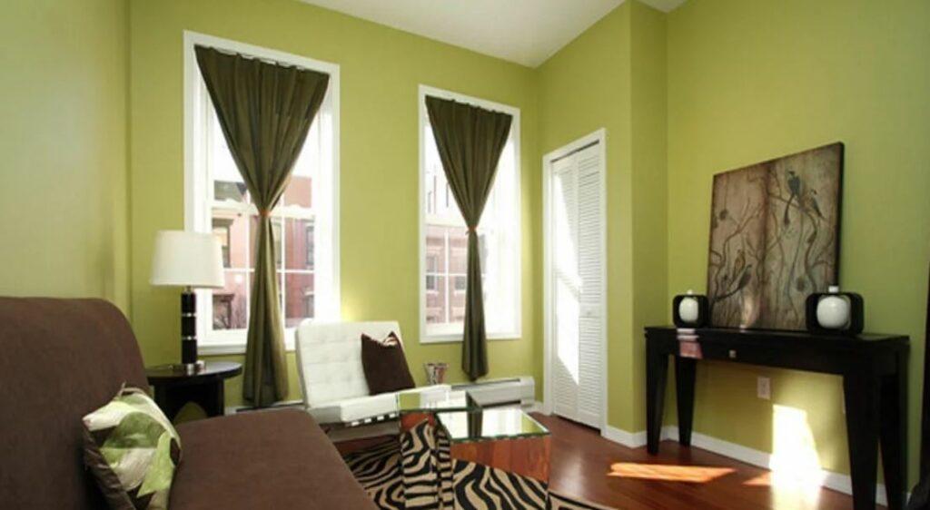 Ремонт квартиры в зеленые цвета