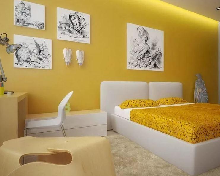 Цвет квартиры-желтый